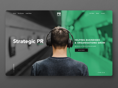 Strategic PR landing page