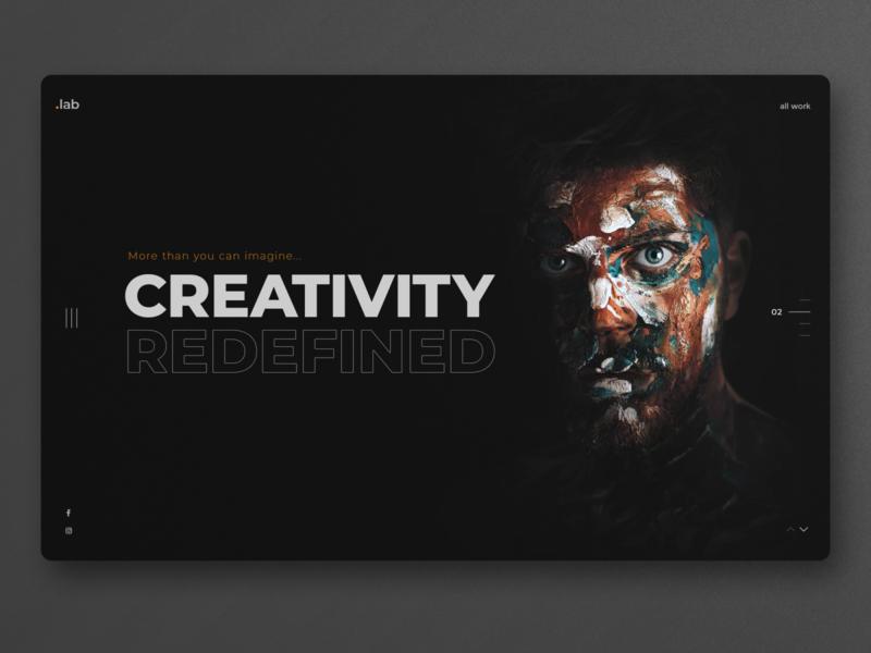 Creative Studio Web Design UI creative agency minimal concept clean ui graphic design website design ux ui homepage landingpage uidesign webdesign