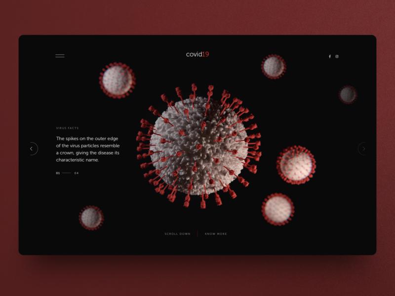 Covid 19 page info UI hero banner graphic design clean design coronavirus covid-19 concept website design homepage ui ux uidesign webdesign landingpage