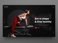 Fitness website UI design