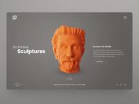 3D Printing company website UI design