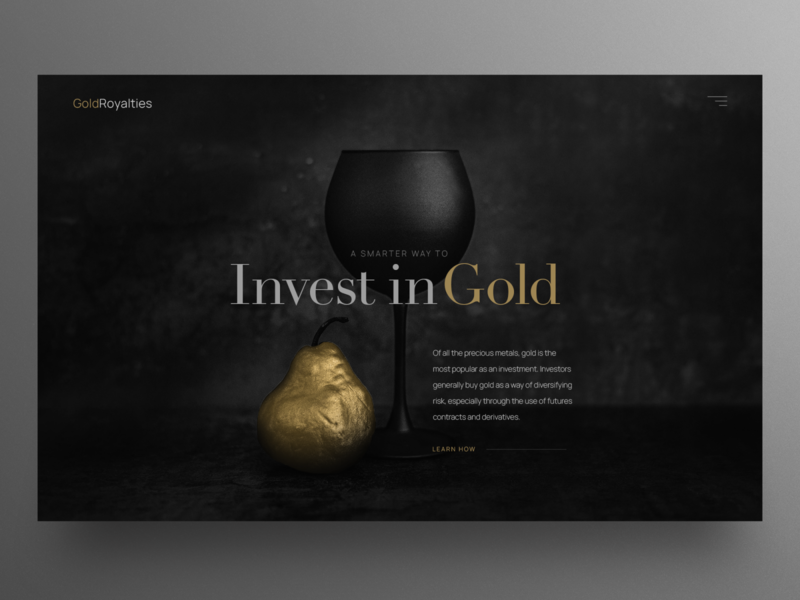 Black and Gold UI design hero image uxdesign clean ui blackandgold dark ui website design uidesign ux ui webdesign landingpage