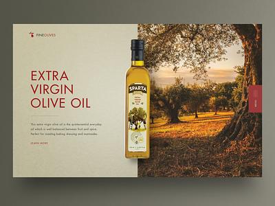 Olive oil Landing page UI design olive oil uxdesign hero image homepage website design ux uidesign ui webdesign landingpage