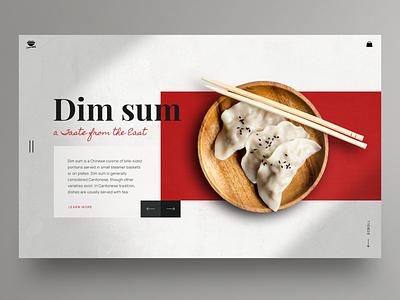 Chinese food website design dim sum chinese food hero image clean ui app design homepage uidesign ux ui webdesign landingpage