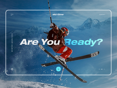 Hero Section design exploration adrenaline skiing ski winter slider banner landingpage web design ui design uiux ui hero banner hero section hero image