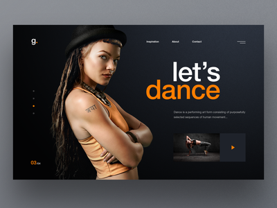 dancing website slider hero image uidesign website design ux ui dancer web design dancing dance