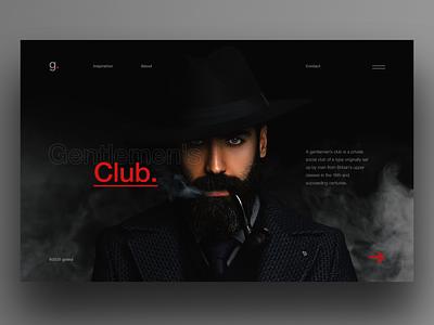 Gentlemen's Club landing smoke clean ui dark ui ui  ux ui uiux ui design web design fashion hero club gentlemen gentleman