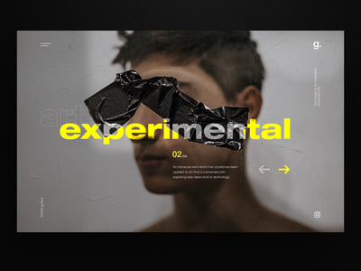 Experimental graphic design uxdesign dailyui website design uidesign homepage ux webdesign landingpage ui