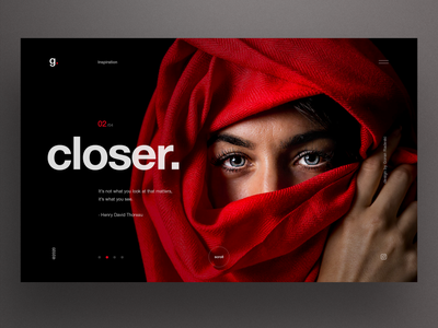 Closer webdesign homepage dark ui website design clean ui slider layout landing ux ui