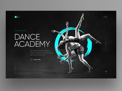 Dance Academy dark ui academy dancing dance hero image website design homepage landingpage webdesign ux ui