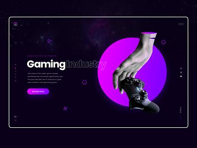 Gaming Facts and Statistics hero slider clean ui statistics gaming charts dark ui webdesign ux ui
