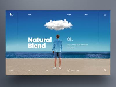 Natural Blend - Website Slider UI design sky ocean beach blend nature website design uidesign landing page ux hero slider webdesign ui
