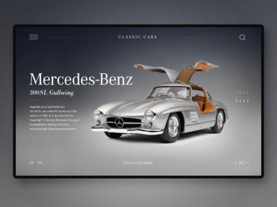 Classic Cars Landing UI