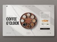 Coffee o'clock Landing page UI