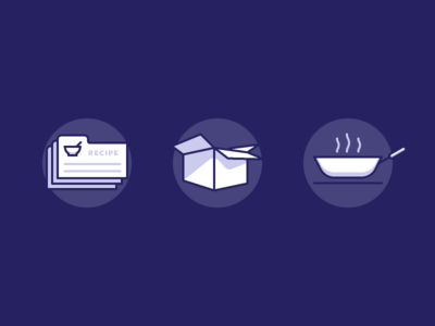 Food deliver icons