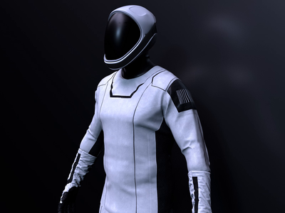 TECHIIA Style Scalability black and white brand identity space suit motion pattern animation 3d ui identity minimal branding