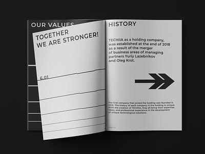 TECHIIA Brand's Printed Products pattern grid print black and white typography identity design minimal branding