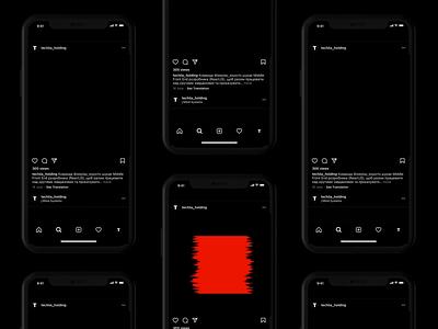 TECHIIA Holding Communication black and white grid brand identity mobile identity typography animation motion design minimal branding