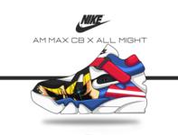 all might X nike air max CB design