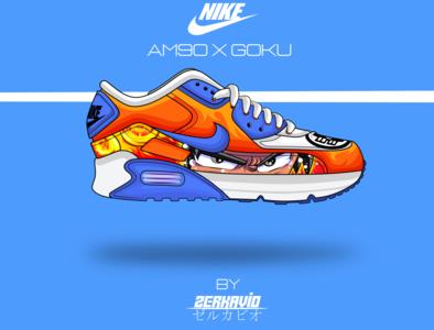 nike AM90 X Goku