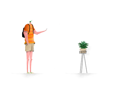 Snap. plant pastel illustration design colors character