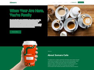 Cafe Somara : Website Homepage
