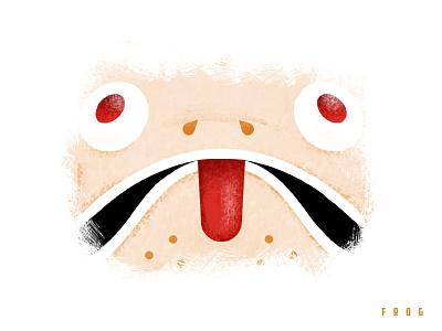 Triple Threat - Frog adobe cc illustrator photoshop texture design frog illustration