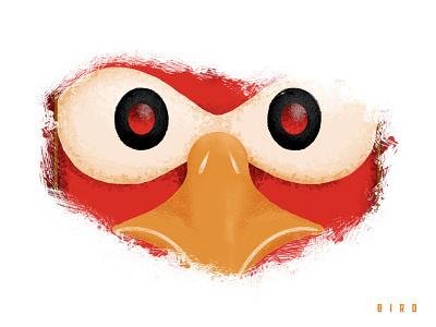 Triple Threat - Bird bird adobe cc illustrator photoshop texture design illustration