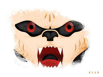 Triple Threat - Bear bear adobe cc illustrator photoshop texture design illustration