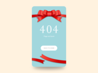 Daily UI Challenge #008 404 Page