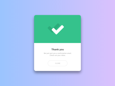 Daily UI Challenge #016 Pop-Up/Overlay