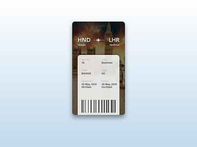 Daily UI Challenge #024 Boarding Pass boarding pass app boarding pass day024 daily challange daily 100 daily 100 challenge mobile design app dailyui ui