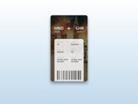 Daily UI Challenge #024 Boarding Pass