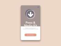 Daily UI Challenge #051 Press Page
