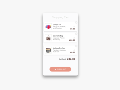 Daily UI Challenge #058 Shopping Cart
