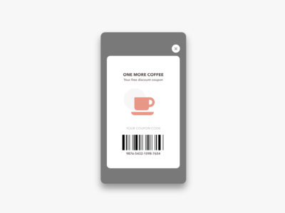 Daily UI Challenge #061 Redeem Coupon