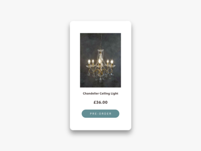 Daily UI Challenge #075 Pre-Order