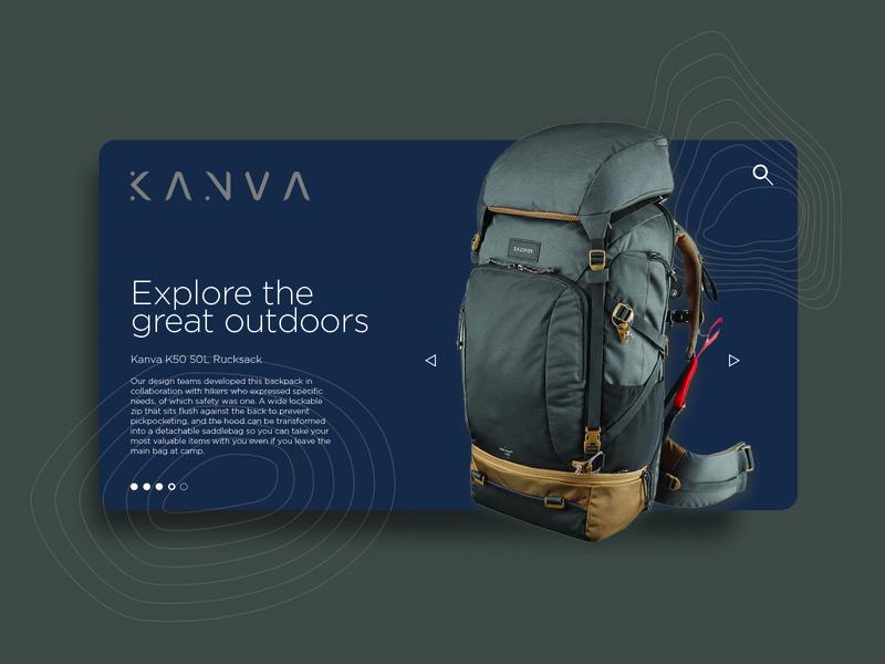 Kanva Web Page Layout