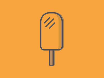Ice lolly orange simple flat design summer icelolly colour flat adobe illustrator vector design creative