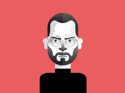 Steve Jobs steve jobs apple jpbs character mcstudio geometric portrait movie eyes vector minimal illustration