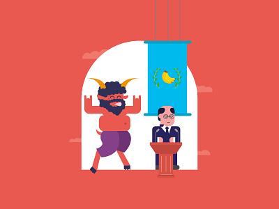 Satiri di Storie joke fun character mcstudio politicalsatire politician italy vector minimal illustration