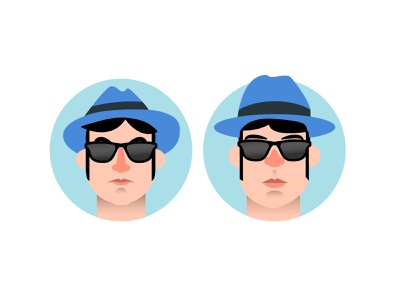 The Blues Brothers portrait movie vector character minimal illustration thebluesbrothers