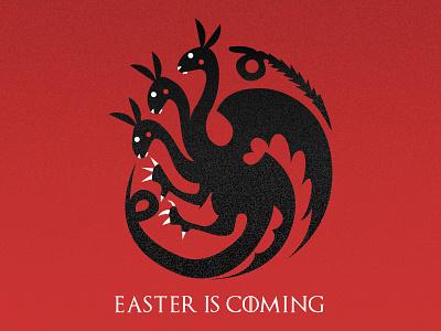 Easter Is Coming targaryen dracarys illustrator illustration gameofthrones easter design bunny