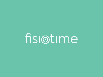 Fisiotime branding brand mcstudio icon logo vector illustration