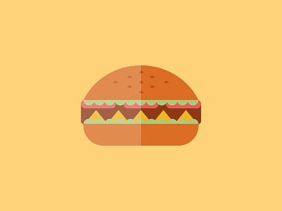 Hamburger mcstudio visual illustrator illustration creative design yummi icon food flatdesign vector