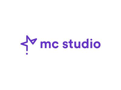 mc studio logo minimal illustrator typography illustration vector logo icon branding
