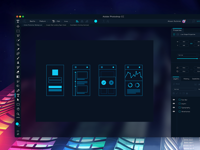 Adobe Photoshop CC Redesign Concept creative cloud gradient neon concept redesign cc photoshop adobe
