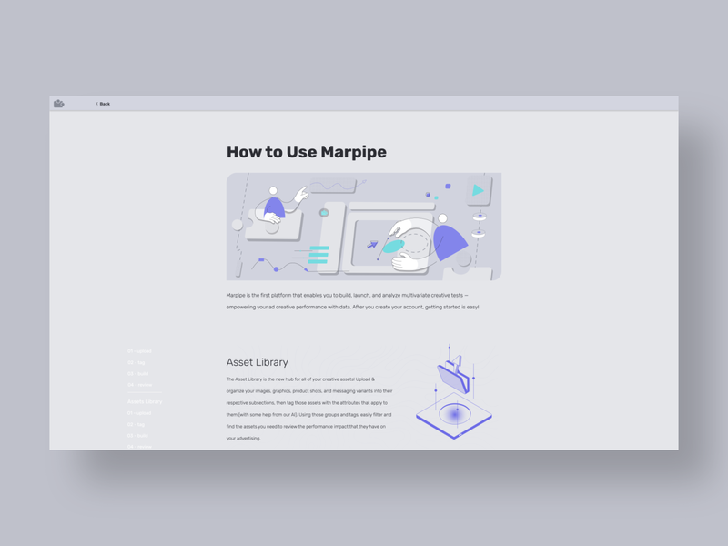 Marpipe Quick Start Page - Illustration 3d flat tech technology vector branding ui design linework illustration