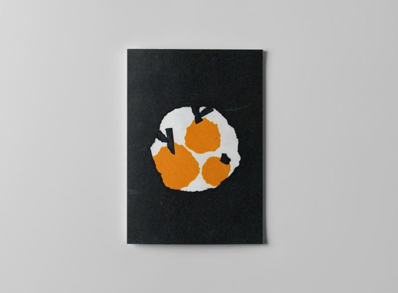ZINE - WORM AND ORANGE clean flat page art 2d designs illustrator paper art papercut paper worm book orange zinegraph zine illustration design