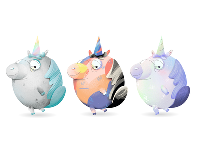 Unicorn Mascot 🦄️ unicorns cute brand design professor pig animal character mascot colorful unicorn gradient 2d illustrator flat branding art illustration design